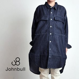【送料無料】**JOHNBULL ジョンブル デニムシャツドレス ワンピース レディース AW690 シャツワンピ|geostyle