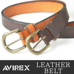 AVIREX/アビレックス/アヴィレックス アンティークバックル レザーベルト AX-4067 メンズ geostyle