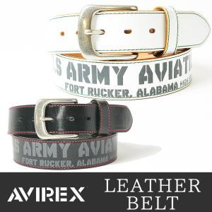 AVIREX/アビレックス/アヴィレックス US ARMY プリント バックル レザーベルト AX-4108 メンズ ユーエスアーミー geostyle