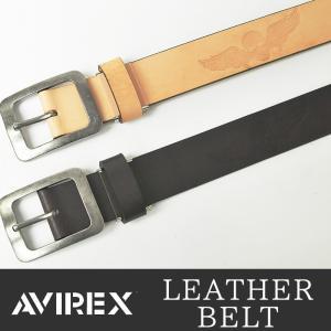 AVIREX/アビレックス/アヴィレックス スカル型押し レザーベルト AX-4109 メンズ geostyle