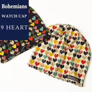 Bohemians ボヘミアンズ ワッチキャップ 帽子 ナインハート 9ハート メンズ レディース 人気 9HEART BH-09|geostyle