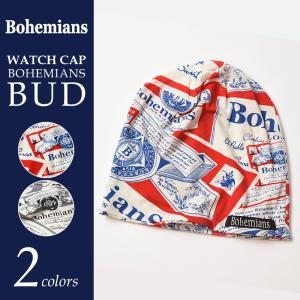 【送料無料】Bohemians ボヘミアンズ バドワイザー柄ワッチキャップ BH-09 BOHEMIANS BUD geostyle