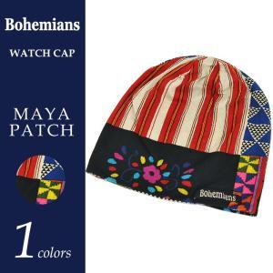 Bohemians ボヘミアンズ【無料ラッピング対応】ワッチキャップ マヤパッチ BH-09 MAYA PATCH メンズ レディース 帽子|geostyle