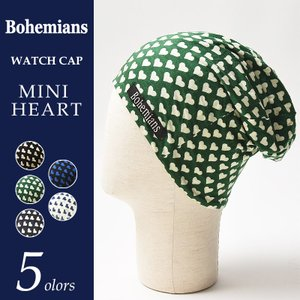 Bohemians ボヘミアンズ ワッチキャップ/帽子 ミニハート BH09 MINI HEART/MINIHEART メンズ レディース|geostyle