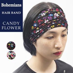 ボヘミアンズ Bohemians キャンディーフラワー柄 ヘアバンド ヘッドバンド ターバン CANDY FLOWER メンズ/レディース  BH-99 geostyle