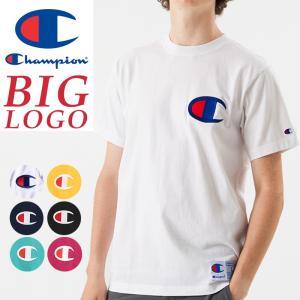 Champion チャンピオン ビッグロゴ刺繍Tシャツ アクションスタイル Tシャツ ACTION STYLE BIG LOGO T-SHIRT C3-F362 geostyle