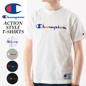 【再値下げ】SALEセール20%OFF チャンピオン Champion 半袖 Tシャツ アクションスタイル 刺繍ロゴ カラフルロゴ C3-H371-2 メンズ geostyle