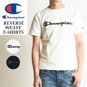 Champion チャンピオン リバースウィーブ 迷彩/カモフラ柄ロゴ 半袖Tシャツ メンズ C3-M303|geostyle