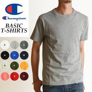 【SALEセール10%OFF】 Champion チャンピオン Tシャツ ベーシックライン クルーネックTシャツ メンズ BASIC LINE CREW NECK T-SHIRTS C3-P300 070|geostyle