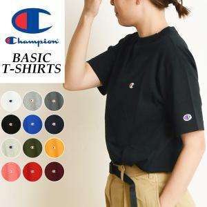 【SALEセール10%OFF】2019春夏新作 Champion チャンピオン Tシャツ ベーシックライン クルーネックTシャツ レディース BASIC LINE CREW NECK T-SHIRTS C3-P300L|geostyle