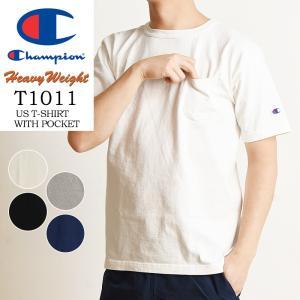 2020春夏新作 Champion チャンピオン T1011 ティーテンイレブン ポケット付 半袖 Tシャツ カットソー made in USA アメリカ製 無地 メンズ C5-B303|geostyle