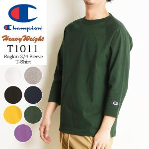 2020春夏新作 Champion チャンピオン T1011 ティーテンイレブン ラグラン 3/4スリーブ 七分袖 Tシャツ カットソー made in USA アメリカ製 メンズ C5-P404|geostyle