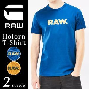 SALEセール30%OFF G-STAR RAW ジースターロウ ロゴプリント半袖Tシャツ メンズ HOLORN Tee D04172-8415 geostyle