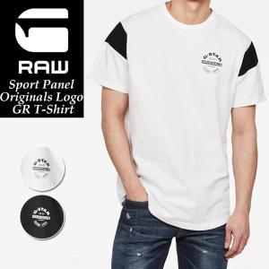 【再値下げ】SALEセール20%OFF ジースターロウ G-STAR RAW 半袖Tシャツ メンズ クルーネック Sport Panel Originals Logo GR T-Shirt D16421-4561 geostyle