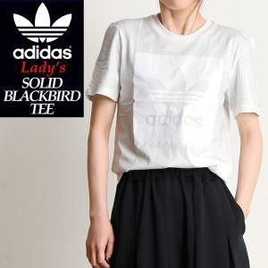 2019春夏新作 adidas Originals アディダス オリジナル ソリッド ブラックバード 半袖 Tシャツ SOLID BLACKBIRD TEE レディース ブラック DU8331 geostyle