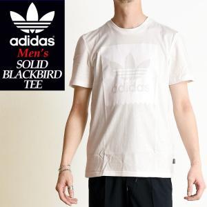 2019春夏新作 adidas Originals アディダス オリジナル ソリッド ブラックバード 半袖 Tシャツ SOLID BLACKBIRD TEE メンズ ブラック DU8331|geostyle