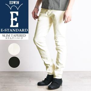SALEセール5%OFF EDWIN エドウィン E-STANDARD イースタンダード スリムテーパード ホワイトデニム ブラックデニム メンズ ジーンズ ED032|geostyle