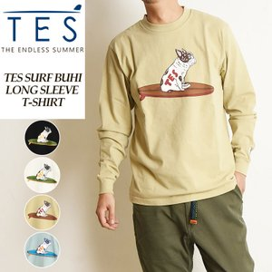 2020秋冬新作 TES-The Endless Summer テス エンドレスサマー  サーフ ブヒ 長袖 プリント Tシャツ メンズ 白T SURF BUHI LONG SLEEVE T FH-0774317|geostyle
