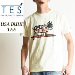 TES-The Endless Summer テス エンドレスサマー USA BUHI ブヒ 半袖Tシャツ フレンチブルドッグ柄 パグ柄 メンズ FH-8574500|geostyle