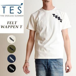 TES-The Endless Summer テス エンドレスサマー フェルトワッペン 半袖 Tシャツ メンズ 白T FH-9574307|geostyle