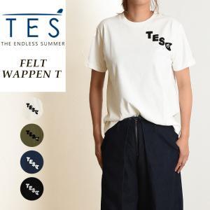 TES-The Endless Summer テス エンドレスサマー フェルトワッペン 半袖 Tシャツ レディース 白T FH-9574307|geostyle