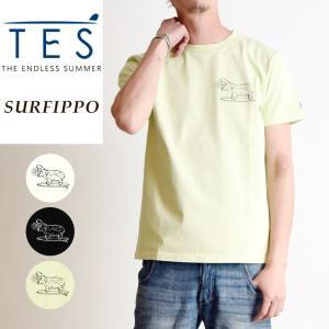 TES-The Endless Summer テス エンドレスサマー サーフ カバ 半袖 Tシャツ メンズ 白T FH-9574310|geostyle