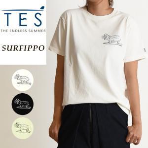 TES-The Endless Summer テス エンドレスサマー サーフ カバ 半袖 Tシャツ レディース  白T FH-9574310|geostyle
