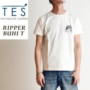 TES-The Endless Summer テス エンドレスサマー リッパーブヒ 半袖 Tシャツ メンズ 白T FH-9574311|geostyle