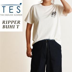 TES-The Endless Summer テス エンドレスサマー リッパーブヒ 半袖 Tシャツ レディース フレンチブルドッグ柄 パグ柄 白T FH-9574311|geostyle