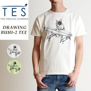 TES-The Endless Summer テス ドローウィングブヒ 半袖 Tシャツ メンズ 白T FH-9574314|geostyle