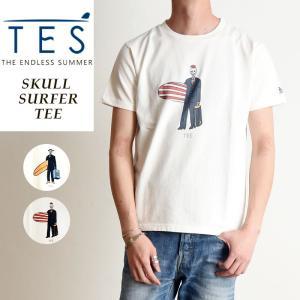 TES-The Endless Summer テス スカルサーファー 半袖 Tシャツ メンズ 白T FH-9574326|geostyle