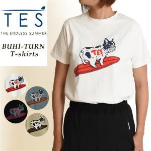 TES-The Endless Summer テス ブヒ ターン 半袖 Tシャツ レディース ユニセックス 白T FH-9574334|geostyle