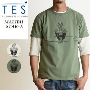 TES-The Endless Summer テス マリブスターA 半袖 Tシャツ メンズ 白T MALIBU STAR-A FH-9574351|geostyle