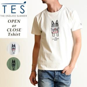TES-The Endless Summer テス オープンオアクローズ ブヒ 半袖 Tシャツ メンズ 白T FH-9574361|geostyle