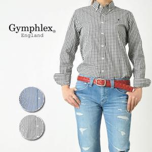 ジムフレックス Gymphlex ジムフレ レディース ボタンダウン ギンガムチェック 長袖シャツ ブラウス J-0872GSC|geostyle