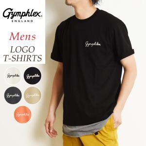 20200春夏新作 Gymphlex ジムフレックス 折り返し袖 ロゴ 半袖 Tシャツ メンズ 無地 J-1155CH|geostyle
