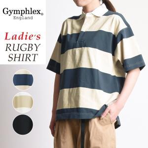 ジムフレックス Gymphlex ラグビーシャツ レディース 半袖シャツ ジムフレ #J-1336|geostyle
