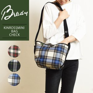 ラッピング無料 ブレディ BRADY キンロスミニ KINROSS MINI タータンチェック ショルダーバッグ レディース メンズ キャンバス ウール 大きめ 鞄 かばん バッグ|geostyle