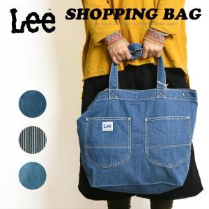 2019春夏新作 ラッピング無料 リー Lee デニム ショッピングバッグ レディース トートバッグ キャンバス 布 大きめ 大容量 ねぎバッグ LA0310|geostyle