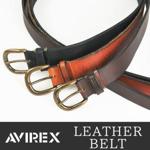 AVIREX アビレックス アヴィレックス アンティークバックル レザーベルト ロングサイズ 長尺 長寸 日本製 大きいサイズ ビックサイズ 35mm幅 LAX-3005 メンズ geostyle