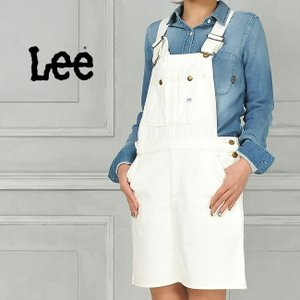 リー Lee オーバーオールスカート(ホワイト) LL1127 レディース サロペットスカート geostyle