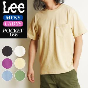LEE リー ロゴプリント クルーネック 半袖ポケットTシャツ ポケT レディース LS1242|geostyle