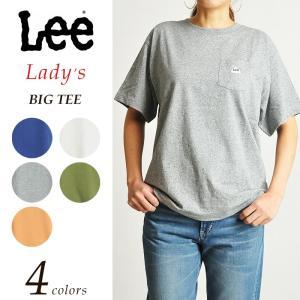 Lee リー ハウスマーク ロゴ ビッグ 半袖 Tシャツ レディース カットソー(9色)LS7270 geostyle