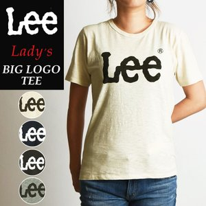 Lee リー BIGロゴTシャツ レディース 半袖Tシャツ LEE LOGO PRINT TEE LS7407|geostyle