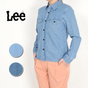リー Lee  デニムシャツ/ワークシャツ LT0970 レディース ダンガリーシャツ|geostyle
