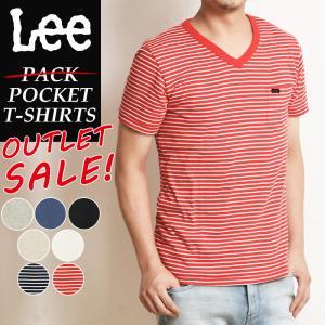 Lee リー パッケージなしアウトレットSALEセール30%OFF Vネック ロゴ半袖ポケットTシャツ パックT ポケT メンズ インナー カットソー PACK T-SHIRTS LT2193|geostyle