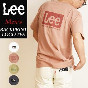 2020春夏新作 送料無料(ゆうパケット)Lee リー ロゴ バックプリント Tシャツ レディース メンズ クルーネック LT4010|geostyle