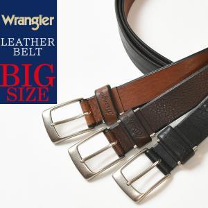 wrangler/ラングラー 大きいサイズ ソフト レザー ベルト メンズ 本革 カジュアル ビジネス 日本製 LWR-3072 ビックサイズ/大寸サイズ/キングサイズ/長尺|geostyle
