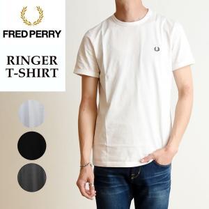2019春夏新作 FRED PERRY フレッドペリー リンガー Tシャツ 半袖 メンズ 白 無地 M3519|geostyle