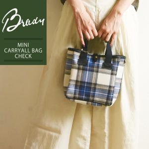 ラッピング無料 ブレディ BRADY ミニ キャリーオール チェック CHECKトートバッグ レディース メンズ ショルダーバッグ 軽量 キャンバス 布 鞄 かばん バッグ|geostyle